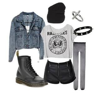 shirt ramones pants shorts spikes cross beanie leather leather pants leather shorts boots drmartens martens black boots jacket denim denim jacket alternative punk rock grunge pastel goth pastel grunge soft grunge emo goth dark black shoes t-shirt