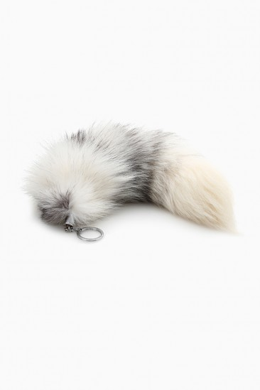 LoveMelrose.com From Harry & Molly | Raccoon Tail Fur Key Chain