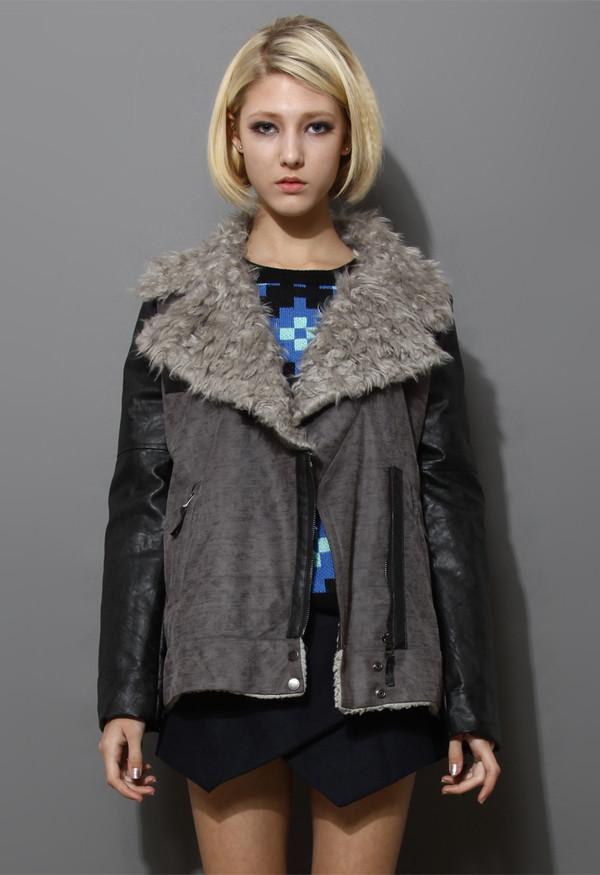 coat biker jacket