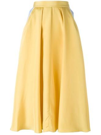 skirt yellow orange