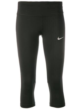 leggings cropped women spandex print black pants