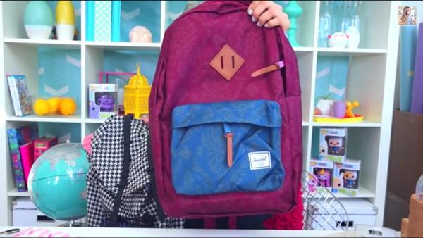 bag back to school michelle phan bookbag herschel supply co.