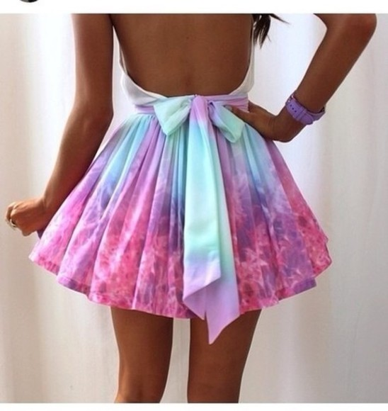 dress colorful rainbow beautiful dress open back dresses open back