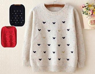 sweater cute mickey warm