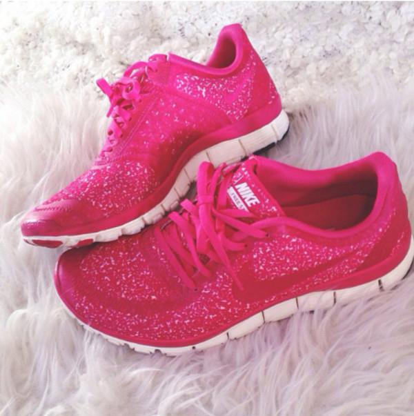 shoes nike free run pink free run glitter sparkle nike running shoes nike pink running nike free 5.0 v4 pink nike running shoes pink glitter nikes nike pink sneakers