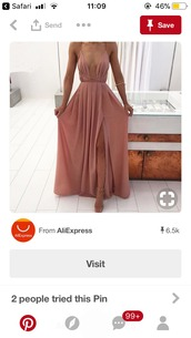 dress,nude,pink,maxi dress,prom,deb dress,ball gown dress,prom dress