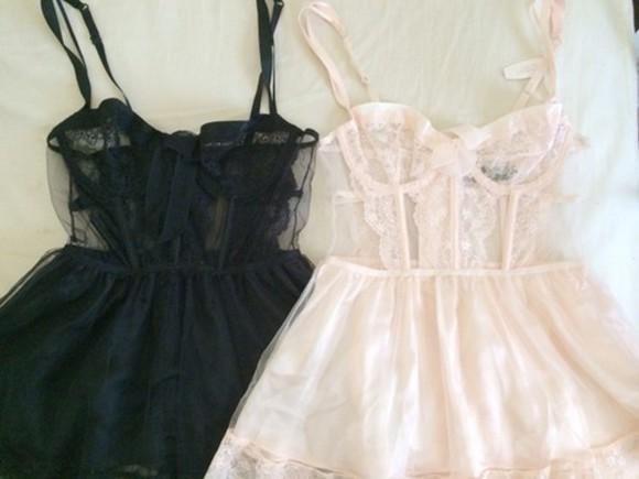 sheer corset lingerie