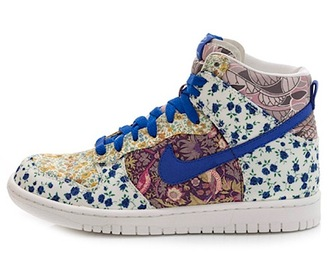 shoes sneakers liberty blue shoes