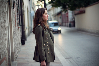 jacket coat green jacket army green jacket military style