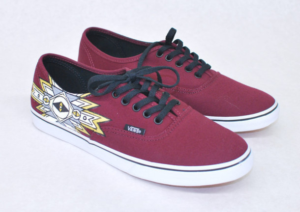 shoes maroon vans vans sneakers burgundy burgundy maroon sneakers tribal vans