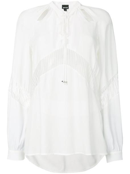 just cavalli shirt women lace white top