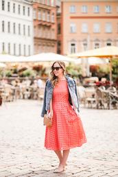 miami + dallas based lifestyle and fashion blog,blogger,dress,jacket,bag,sunglasses,pink dress,denim jacket,gucci bag,fall outfits