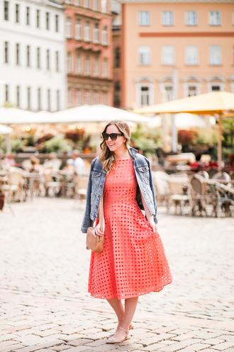 miami + dallas based lifestyle and fashion blog blogger dress jacket bag sunglasses pink dress denim jacket gucci bag fall outfits