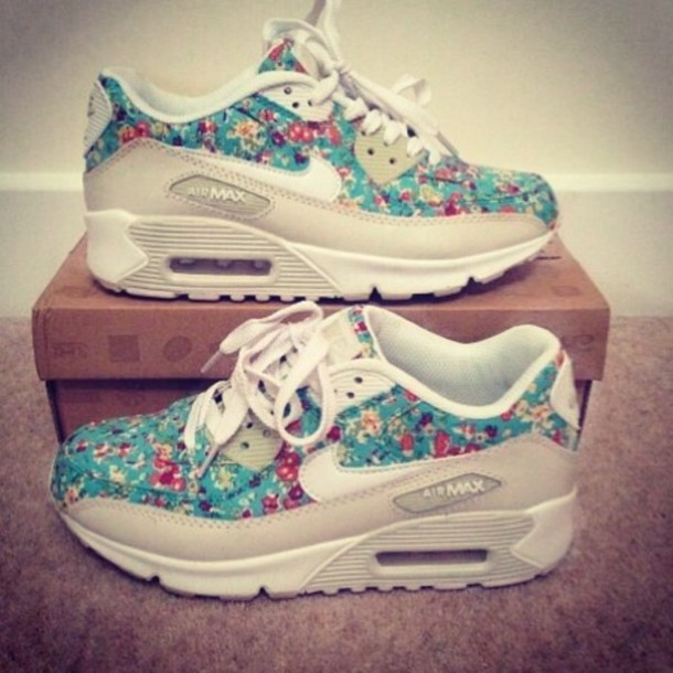 shoes floral nikes air max nike running shoes nike nike air floral trainers floral air max air max flowers amzing