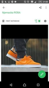 shoes,nike,orange