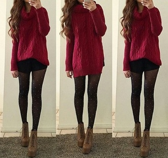 t-shirt red sweater baggy sweaters cute sweaters sweater want love cute burgundy sweater outfit shoes