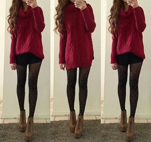 T-shirt: red sweater, baggy sweaters, cute sweaters, sweater ...