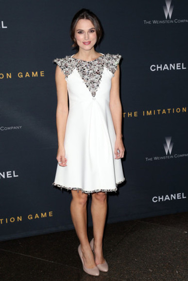 dress keira knightley white dress
