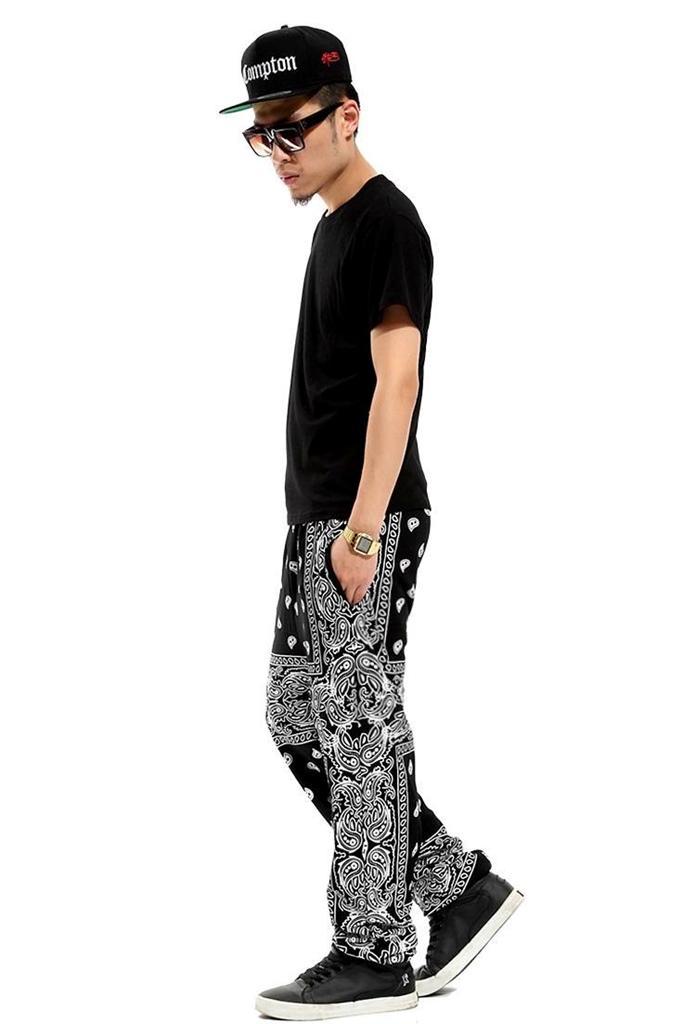 3 4P Hip Hop Men Paisley Pattern Cotton Street Dancing Sweatpants Harem Pants | eBay