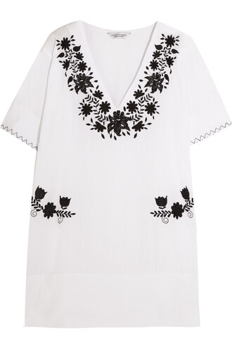 dress mini dress mini embroidered cotton white