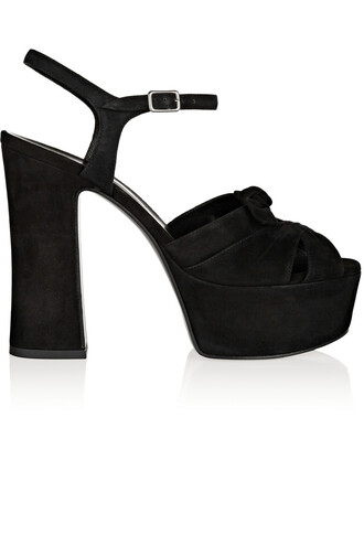 candy sandals platform sandals suede black shoes