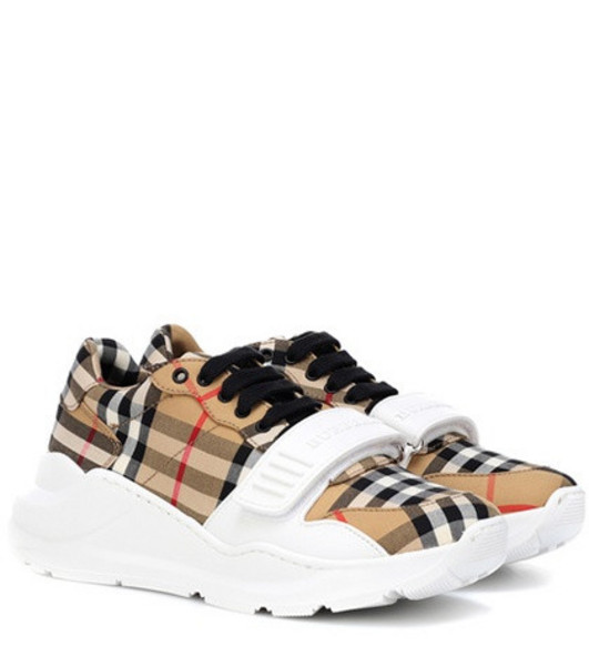Burberry Check cotton sneakers