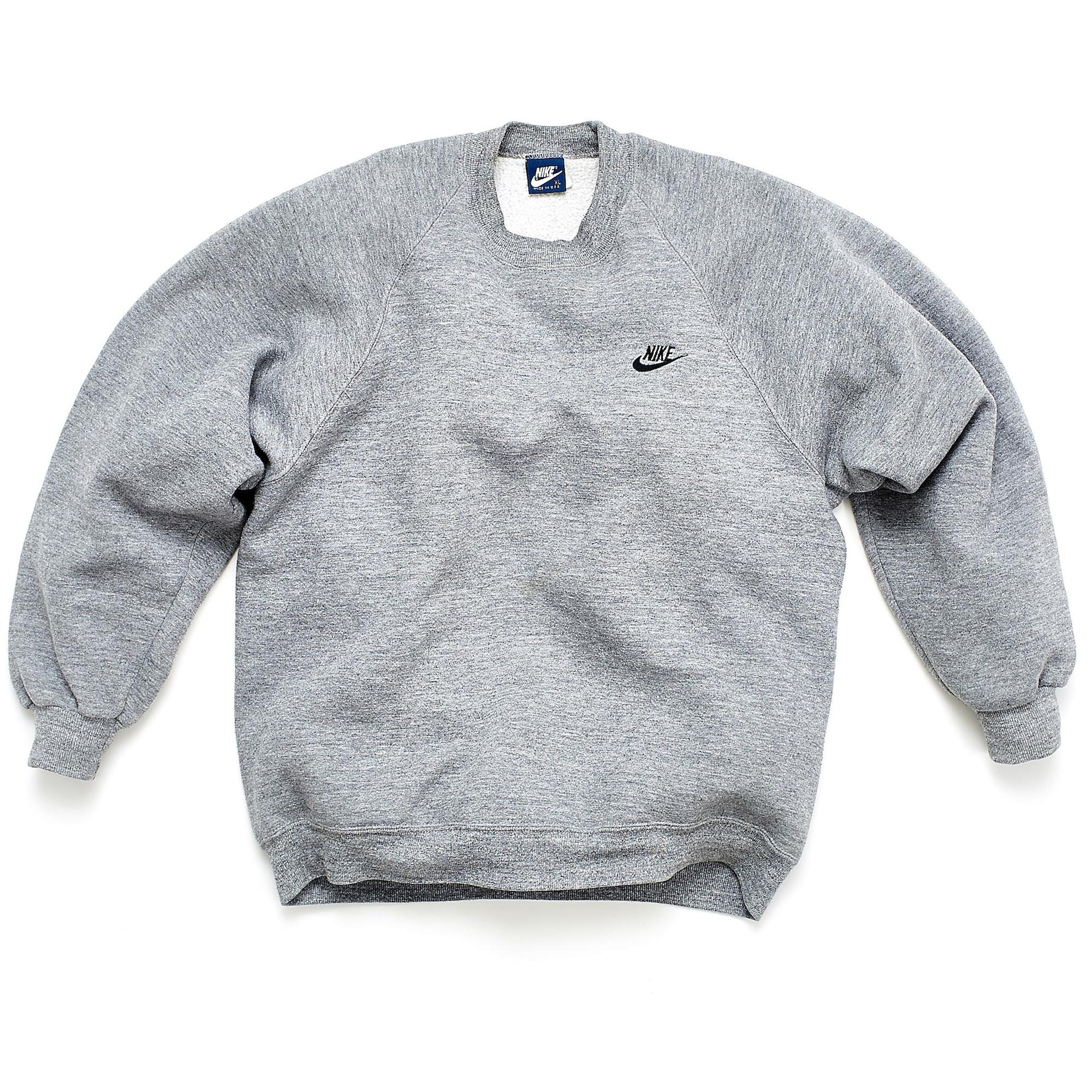 Swoosh Crew Neck Sweatshirt Grey