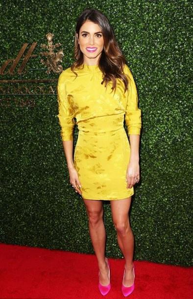 dress yellow yellow dress nikki reed