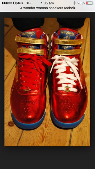 wonder woman shoes sneakers Reebok
