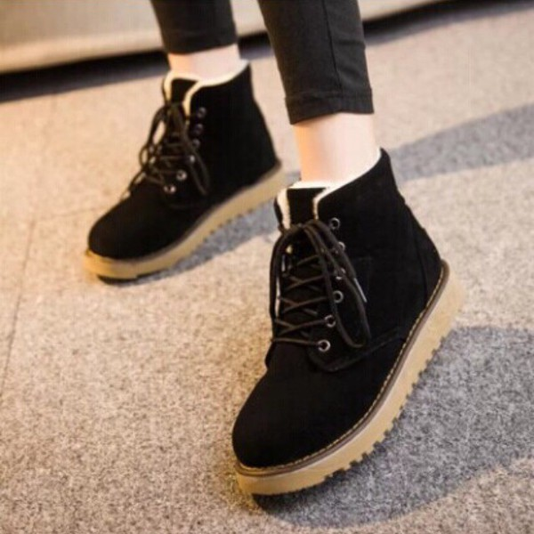 Shoes: flat ankle boots, lace up boots, boots, ankle boots, winter ...