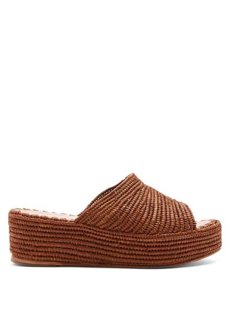 carrie forbes sandals flatform sandals brown shoes