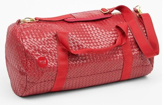 bag mi-pac duffel bag red leather