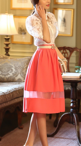 Summer Pleated Skirt - Juicy Wardrobe