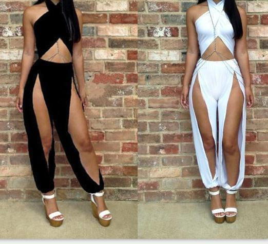Fashion sexy irregular jumpsuits