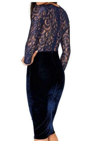 dress blue dress blue lace lace dress lace bodycon bodycon dress sheer back lace top dress www.ustrendy.com