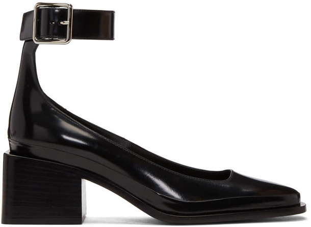 Jil Sander strap heels heels black shoes