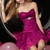 Fantastic Sweetheart Tiered Tulle Empire Ruffles Hem Fuchsia Mini Length Homecoming Dresses - Happidress