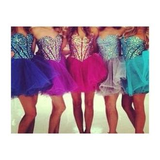 dress short sparkles pink blue silver purple cute tumblr prom dress