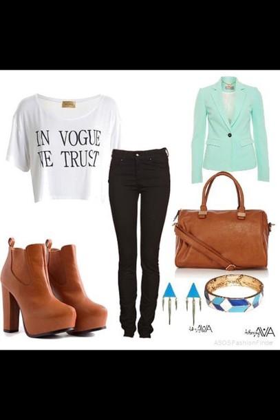 jeans black brown heels vogue brown high heels