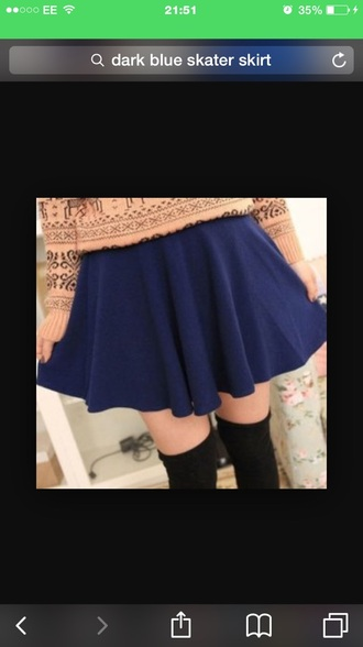 skirt blue dark blue dark dressy pretty skater skirt party outfits