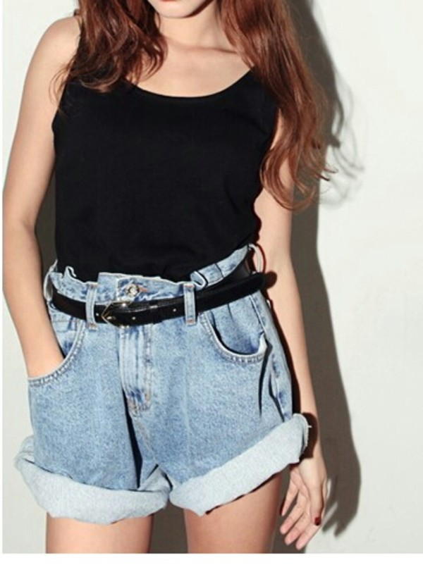 shoes High waisted shorts