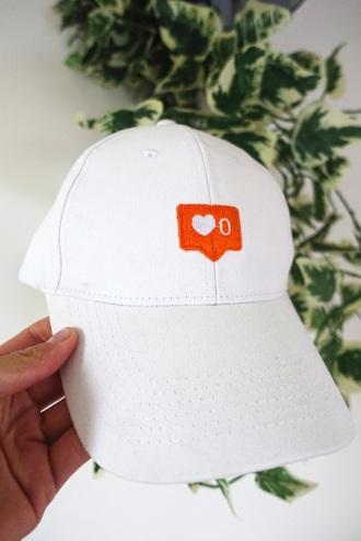 hat white cap instagram emoji print