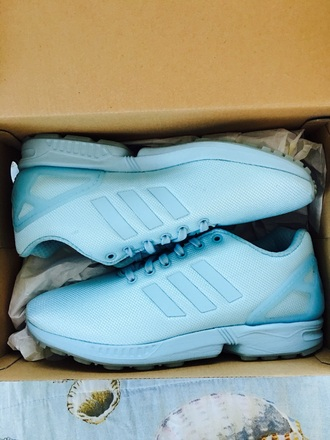 shoes adidas zx flux blue light blue adidas shoes adidas zx flux sneakers kicks fashion