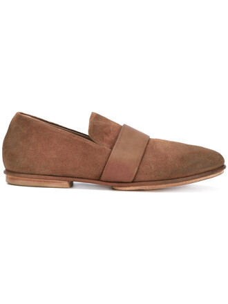 women loafers leather brown shoes