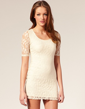 Paprika lace cut out back detail dress at asos