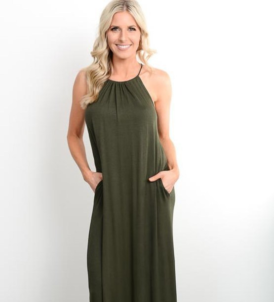 eee065608f8d7 dress olive green beach summer spring summer outfits chic trendy cute  spring outfits boutique womens fashion