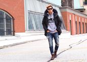 alexander liang,blogger,sunglasses,mens hoodie,mens coat,mens jeans,menswear,coat,sweater,jeans,shoes,mens parka,mens ripped jeans