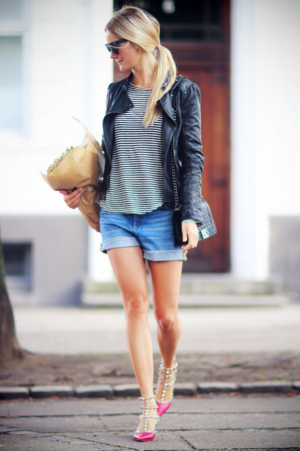 passions for fashion t-shirt jacket sunglasses jewels bag shoes shorts