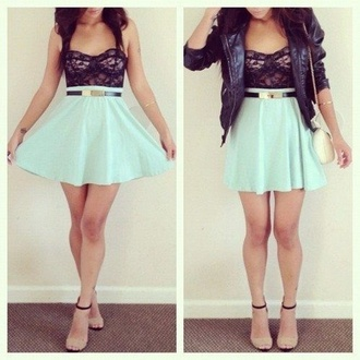 black lace dress lace top dress blue green dress mint dress mint green prom dress lace mini skirt mini dress short dress