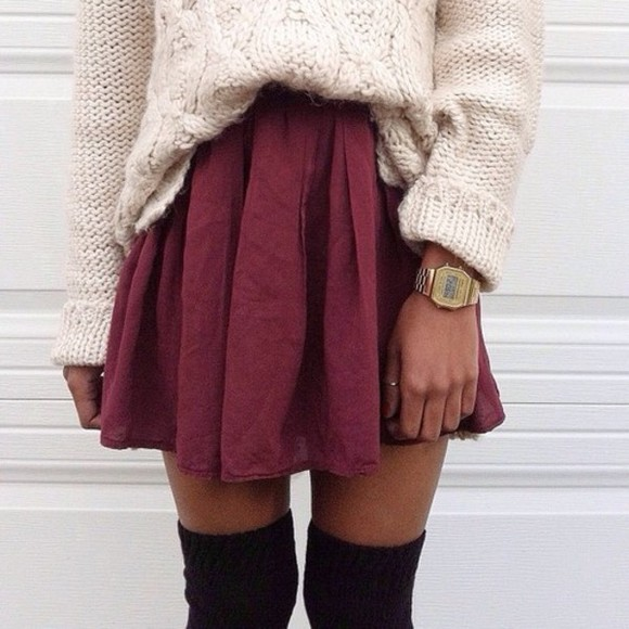 skirt shirt lovely short skirt highwaisted shorts cute high waisted skirt bordeaux